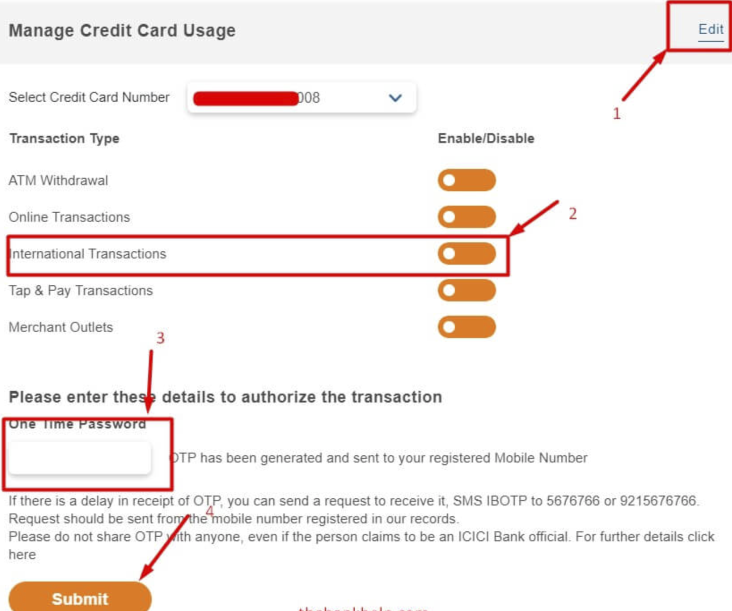 Enable Card for Overseas Use or International Transactions