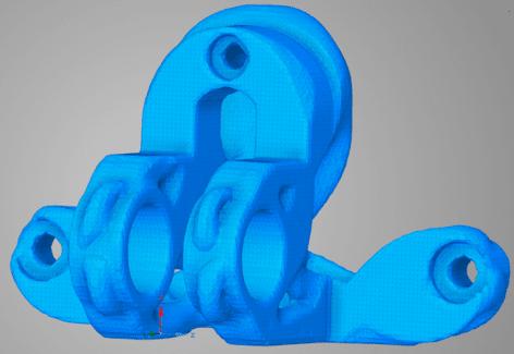 Оптимизированная модель в виде полигонального тела (faceted body)