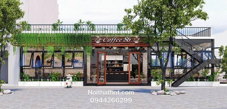 Thiết kế quán cafe 60m2