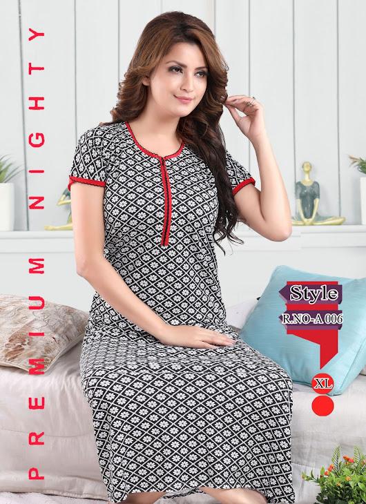 Vol 217 Kavyansika Designer Nighty Manufacturer Wholesaler