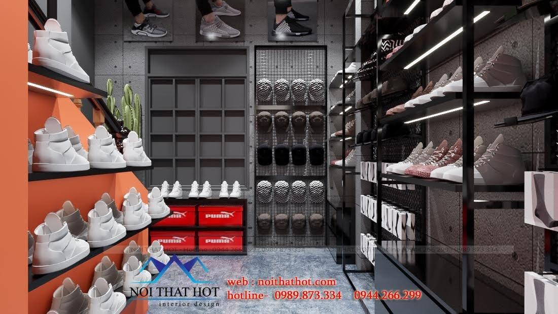 kệ giày dép cửa hàng