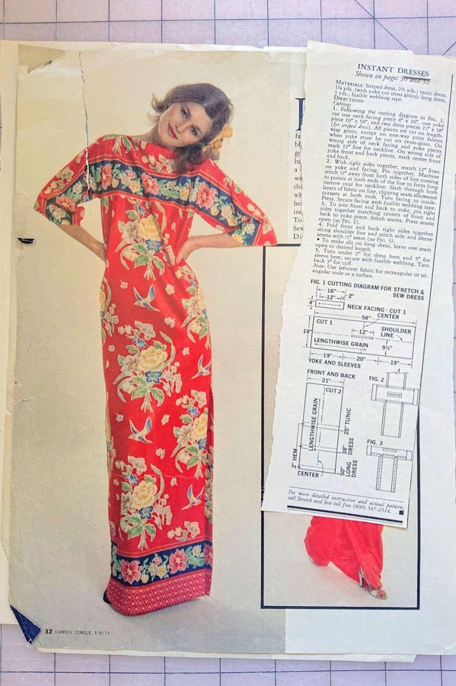Pattern details of Instant Dress