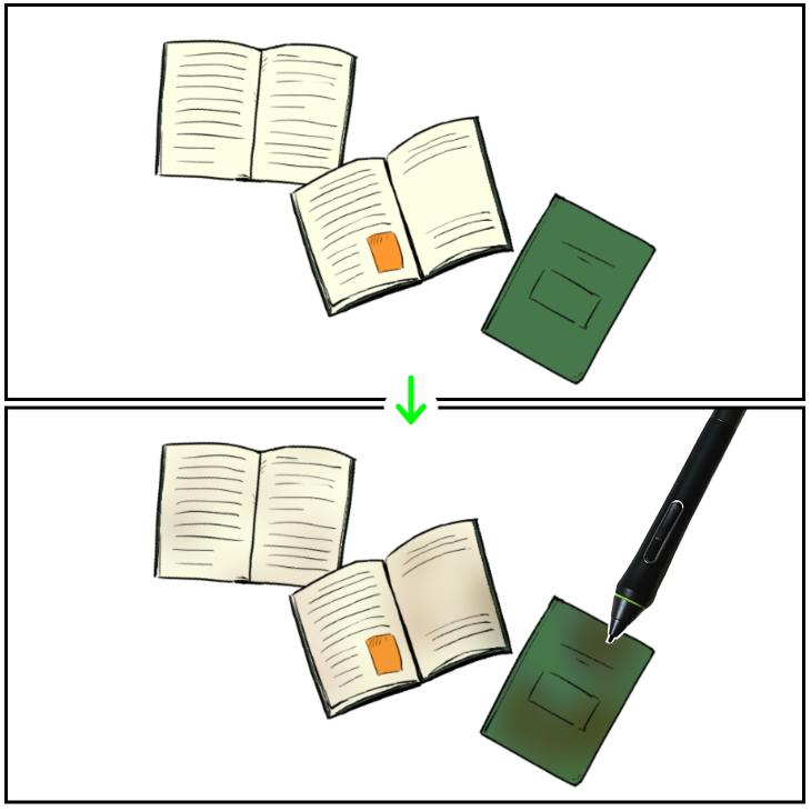 クリスタ「比較(暗)」使用例