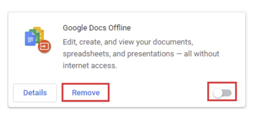 Disable or Remove Google Chrome Extension
