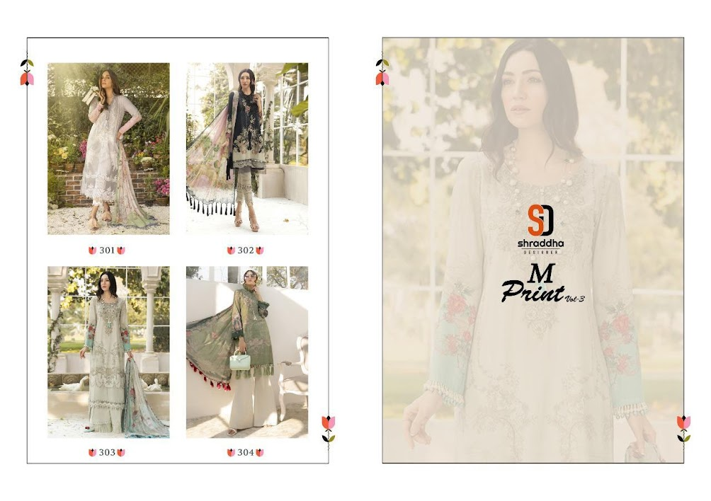 M Print Vol 3 Shraddha Designer Pakistani Dress Material Man