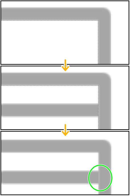 クリスタの自動選択ツール(隙間)