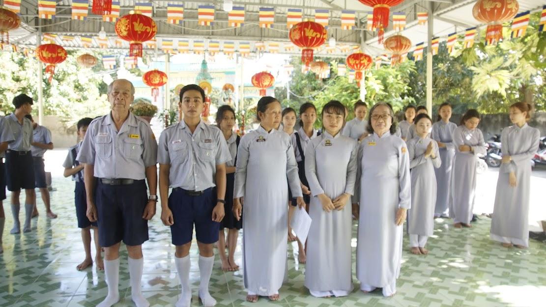 Lễ phát nguyện của tân Gia trưởng và tân Quyền Liên Đoàn trưởng GĐPT Thanh Lợi
