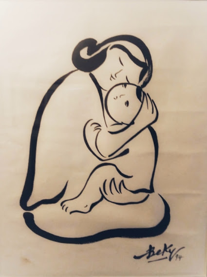 Mẹ và Con trong tranh Bé Ký