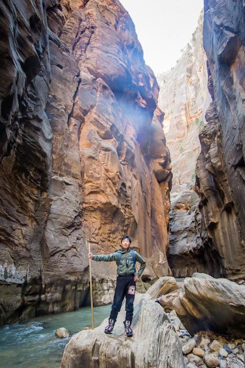 HB on big rock