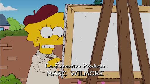 Los Simpsons 22x20 omero Manos de Tijera