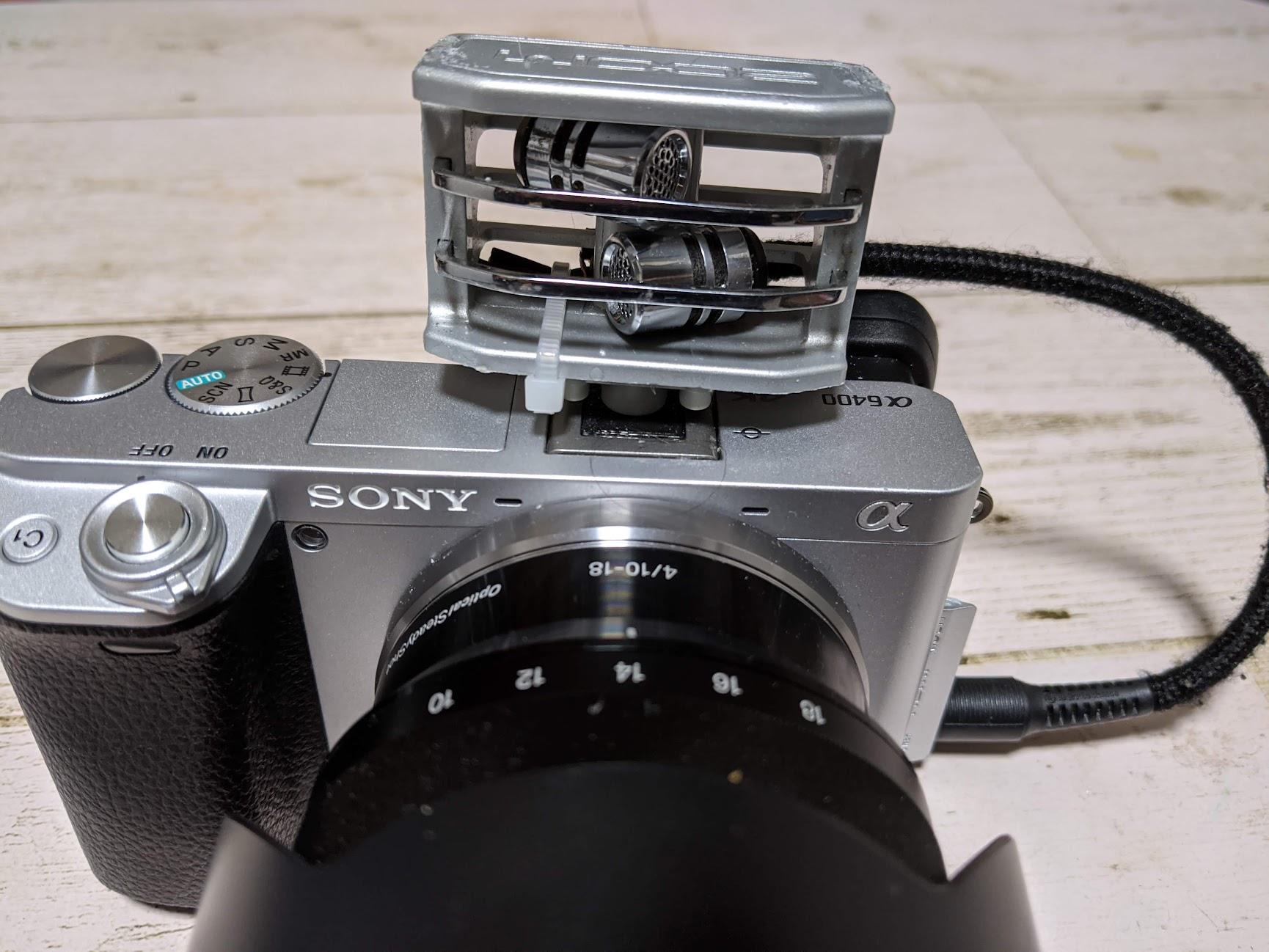 ハンディビデオレコーダー ZOOM  Q3HDを分解してカメラの外部マイクにする