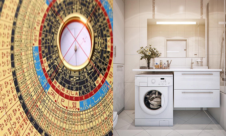 Không nên chọn vị trí đặt máy giặt phong thủy theo vị trí sao ngũ hoàng