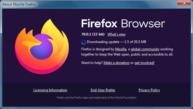 Update Firefox browser.
