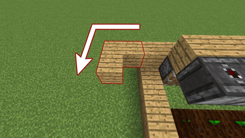 木材を使ってL字型を作る