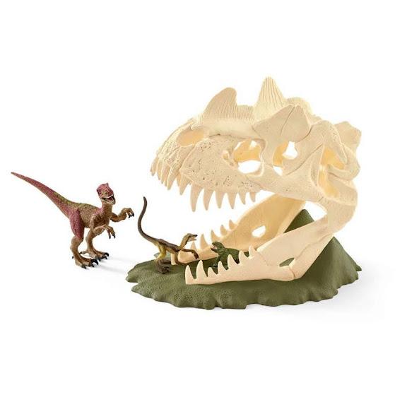 Contenido de Schleich® 42348 Calaveras Grandes con Velocirráptor