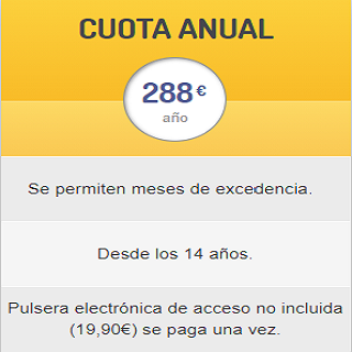 PARA TÍ QUE QUIERES PAGAR MENOS. ¡INSCRÍBETE HASTA 30/11 Y CONSIGUE 2 MESES DE REGALO!   MENOS DE 21€/MES. DESDE LOS 14 AÑOS 288/AÑO Dispositivo de acceso no incluido (19,90€). Solo se abona una vez.