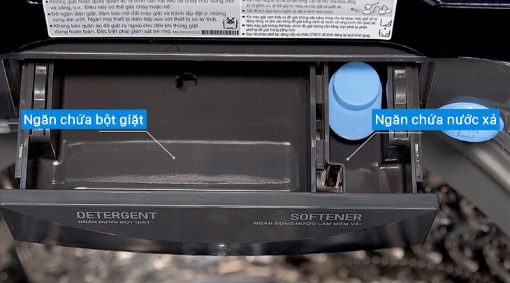 ngăng chứa bột giặt và nước xả của máy giặt cửa trên LG TH2111SSAB