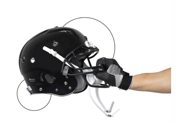 Orbi using Telit FN980 5G data card for an American football helmet with 360˚ video cameras