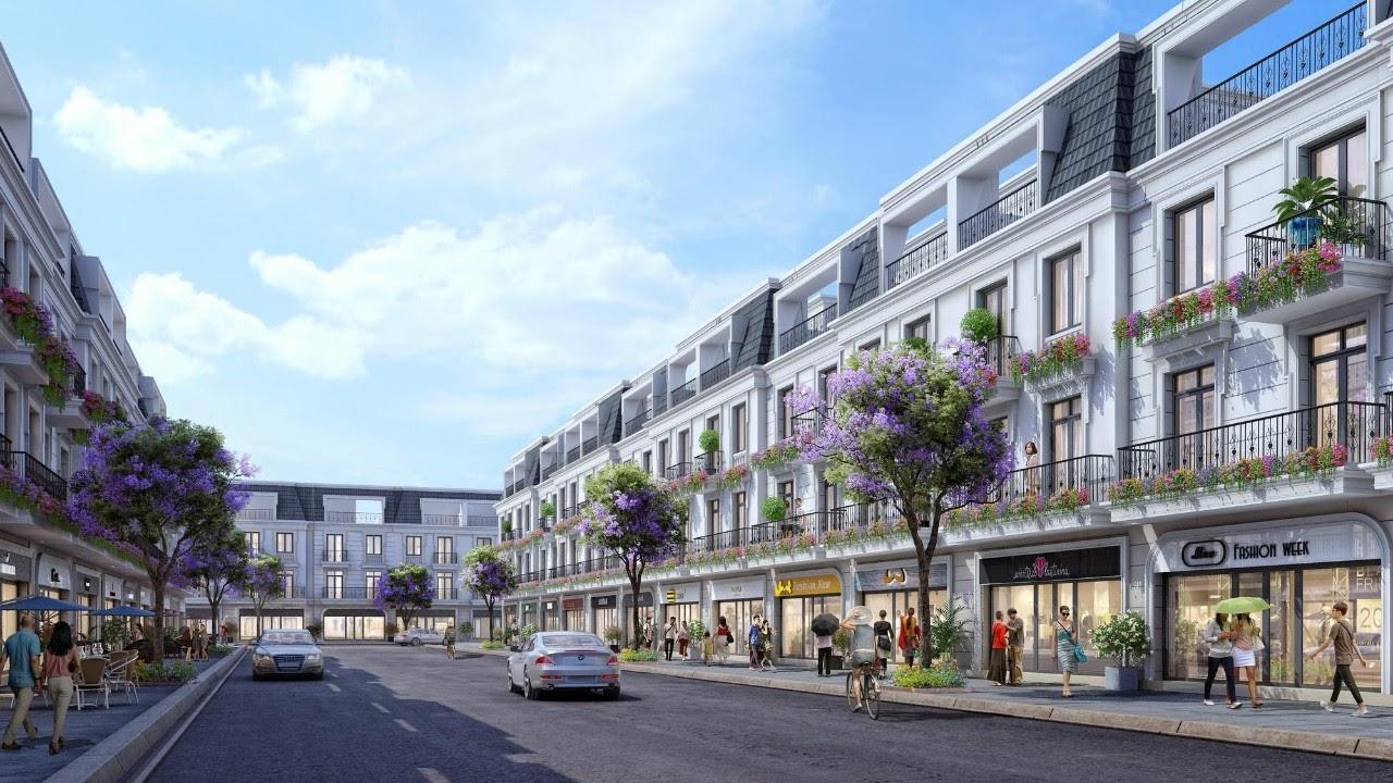 Phối cảnh một khu phố trong dự án khu dân cư tại Thái Hòa