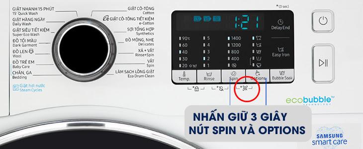 Tính năng phụ trợ Smart Check của máy giặt Samsung