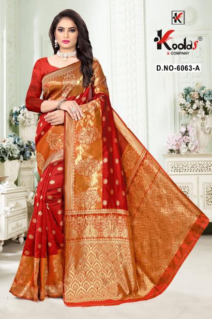 Buy Kodas Skoda 6063 Latest Sarees Catalog Online Wholesaler