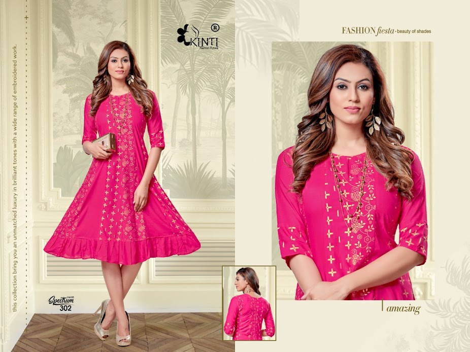 Buy Kinti Spectrum Vol 3 Fancy Anarkali Kurtas Catalog Onlin