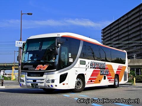 南海バス「サザンクロス」長岡・三条線 ・518