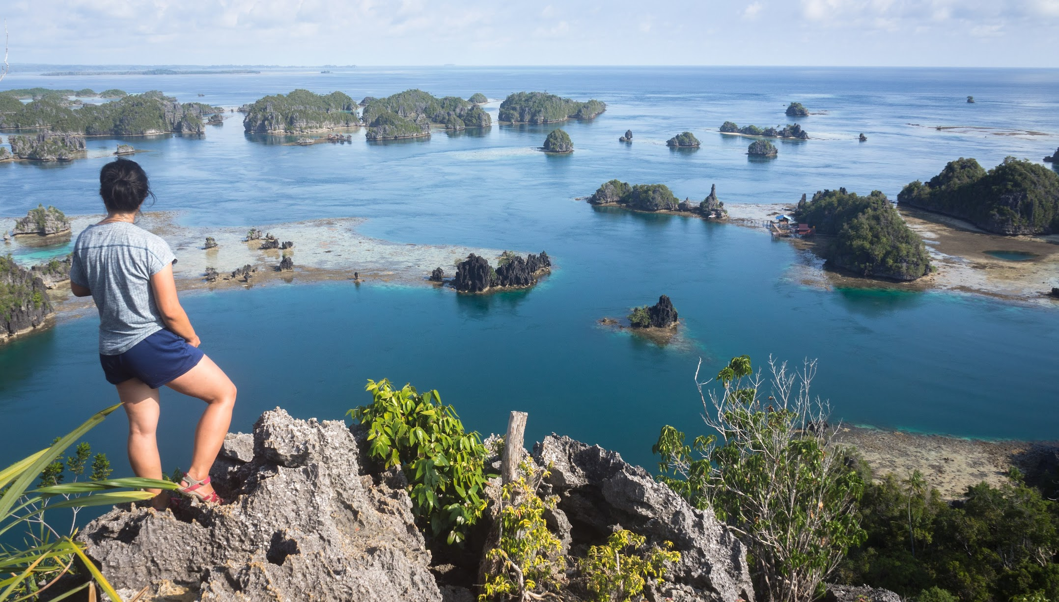 View of small islets in Raja Ampat