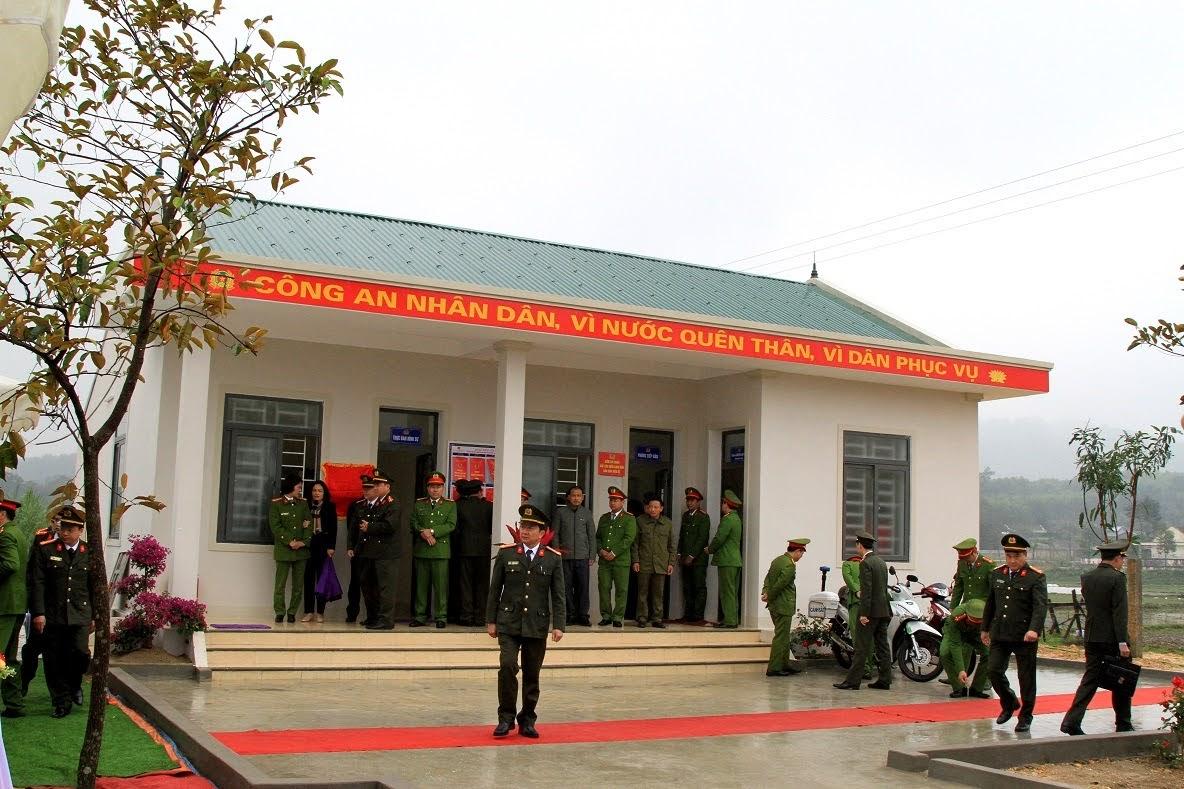 Trụ sở Công an xã Thanh Thủy.