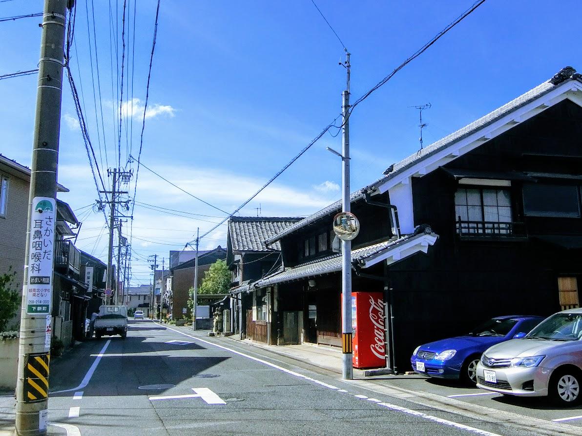 笠松の町並み
