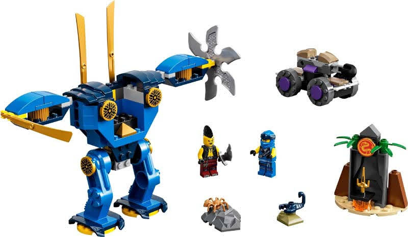 Contenido de Lego® 71740 Robot Eléctrico de Jay