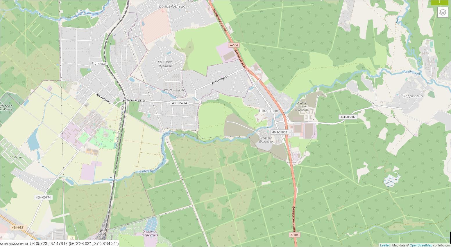 Карта-Раздериха-OSM-спутник - Современное состояние OpenStreetMap