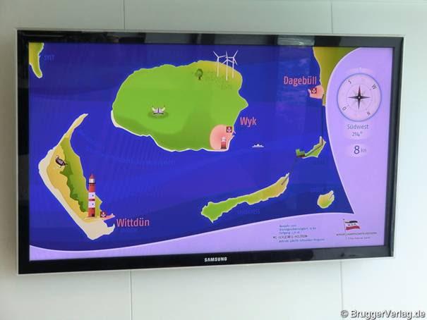 Flieger- ähnliche Informationstechnologie an Bord der Fähre