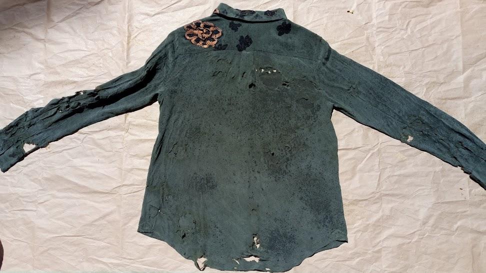 More Discoloration - Accidentally Boro Shirt   FAFAFOOM STUDIO