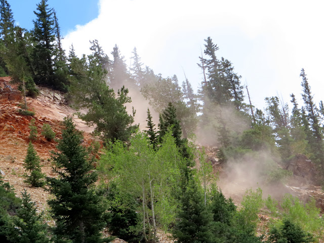 Dust cloud after a small rockfall