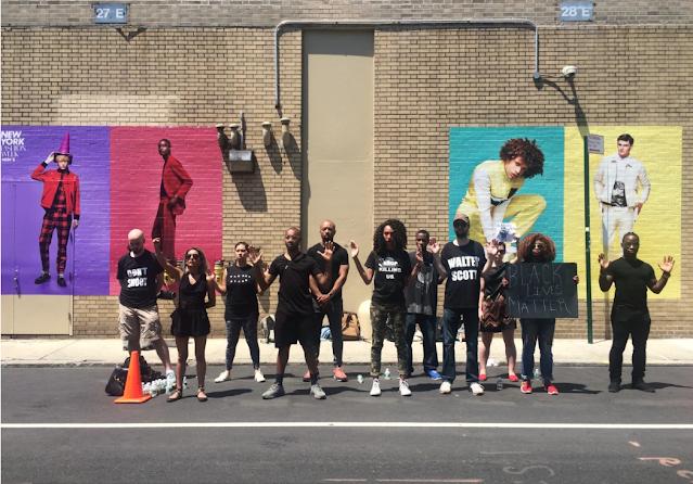 Black Lives Matter Protest during New York Fashion Week on June 12, 2016.