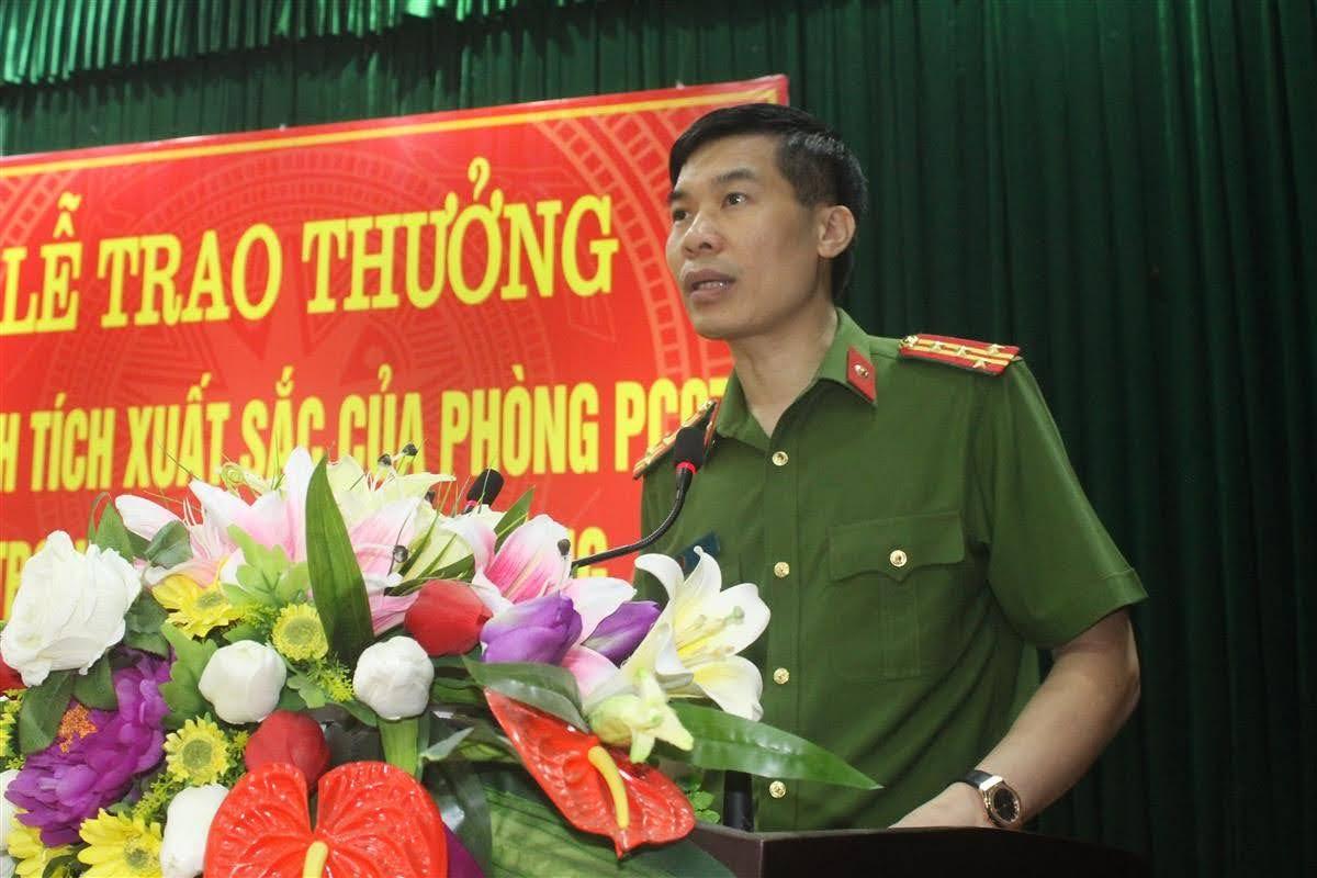 Đại tá Cao Minh Huyền, Phó Giám đốc Công an biểu dương tinh thần chiến đấu dũng cảm của CBCS trong những ngày qua