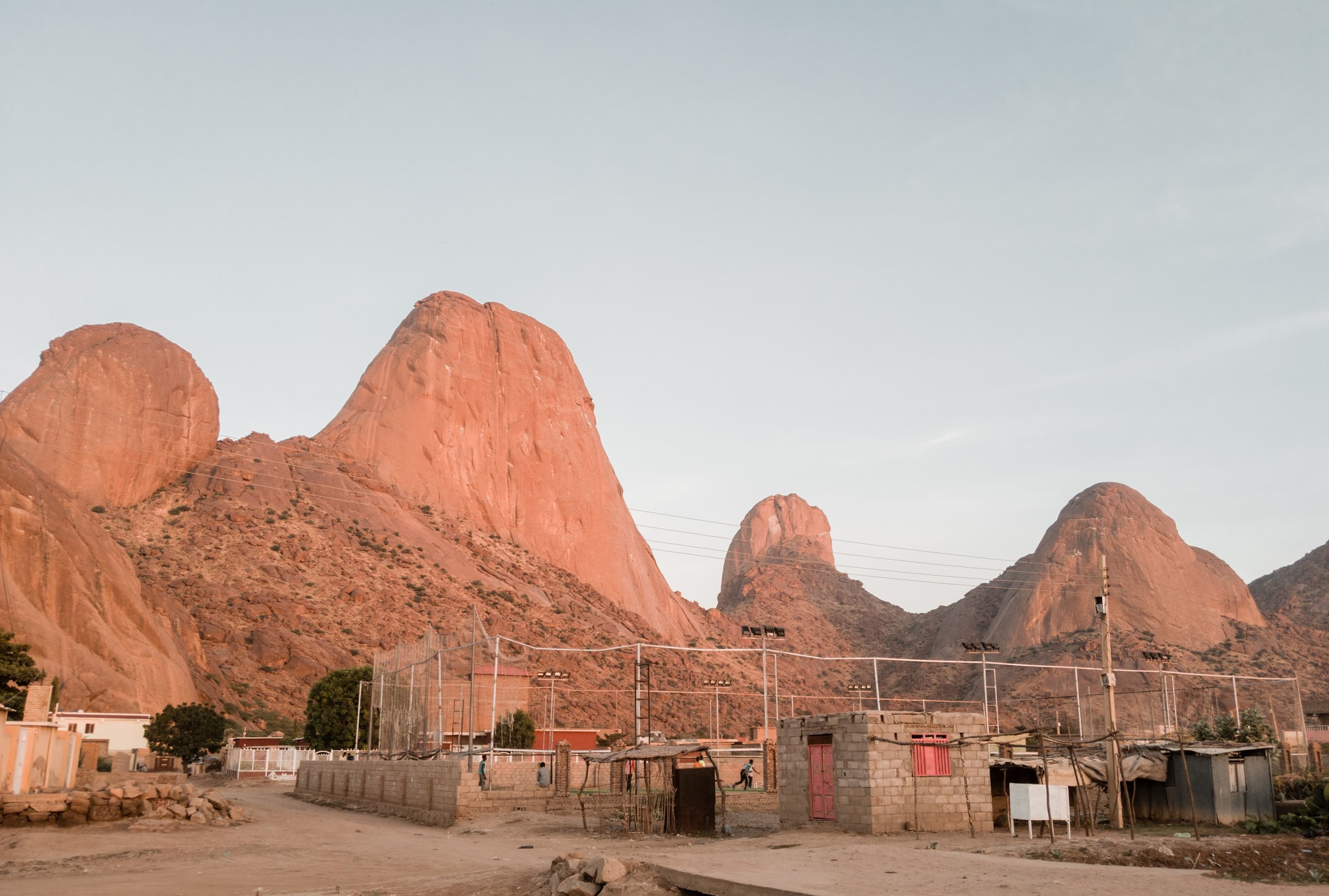 Khatmiya neighborhood at the foot of Taka Mountains in Kassala.