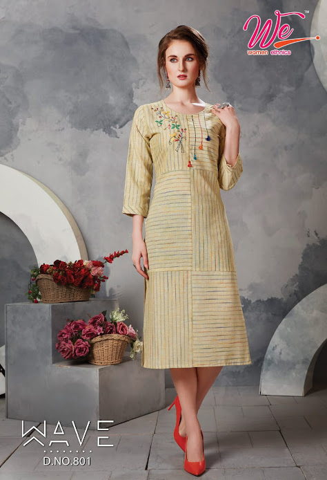 Buy Women Ethnics Wave Latest Straight Cut Kurtas Catalog On