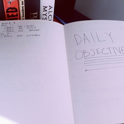 Photo of an open journal