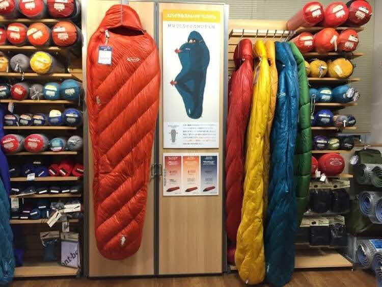 日本一周と登山で使うシュラフを再検討、モンベルの店頭で実物を見てきた