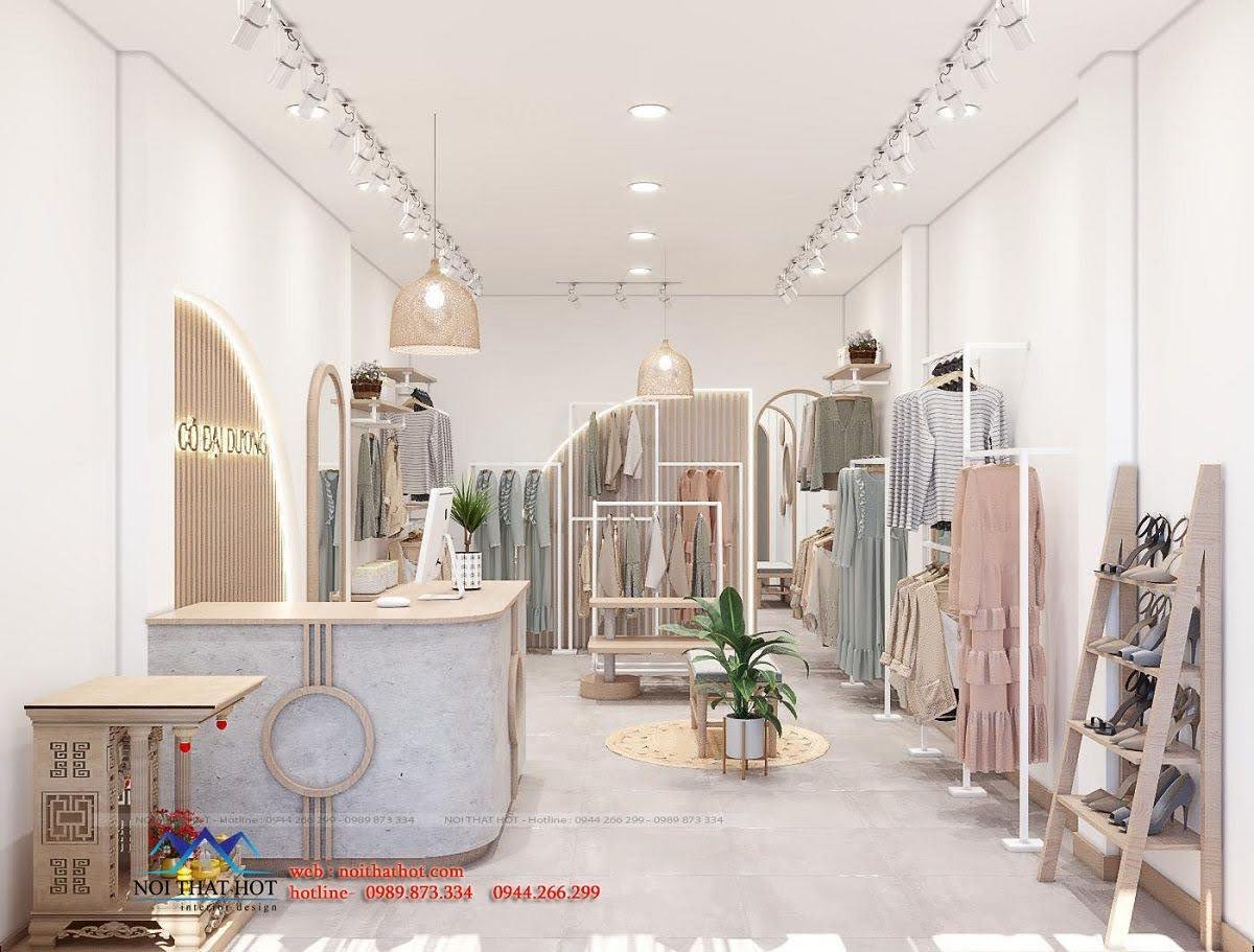 Thiết kế shop thời trang 110m2