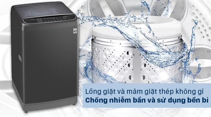 Lồng giặt và mâm giặt làm bằng thép không gỉ