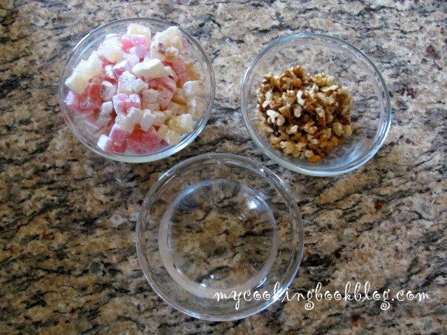 Пандишпаново руло с локум и орехи