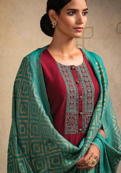 Humnashin Naariti Pashmina Dress Material Manufacturer Wholesaler