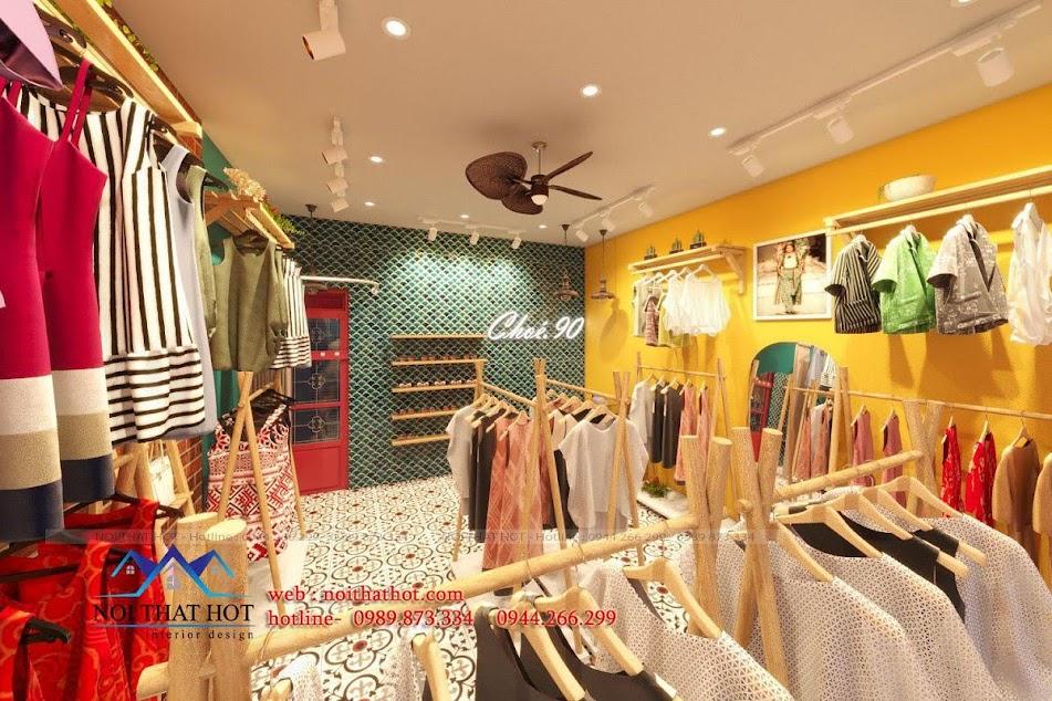 thiết kế shop thời trang nữ vintage