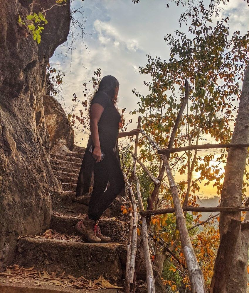 blogger priyanka gupta at dee doke waterfall mandalay .jpeg