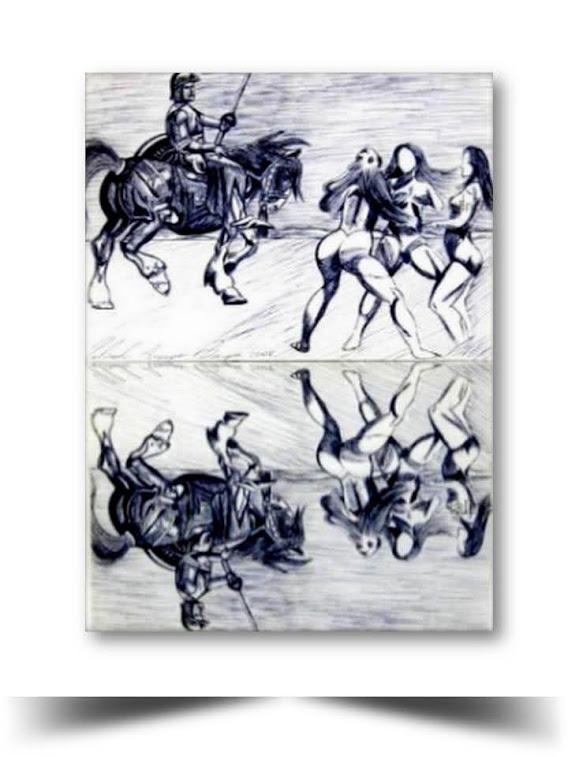 Gladiador Plumilla 2015 Obra del Artista Ecuatoriano Lalinchi Arreaga Burgos E.E.A.B