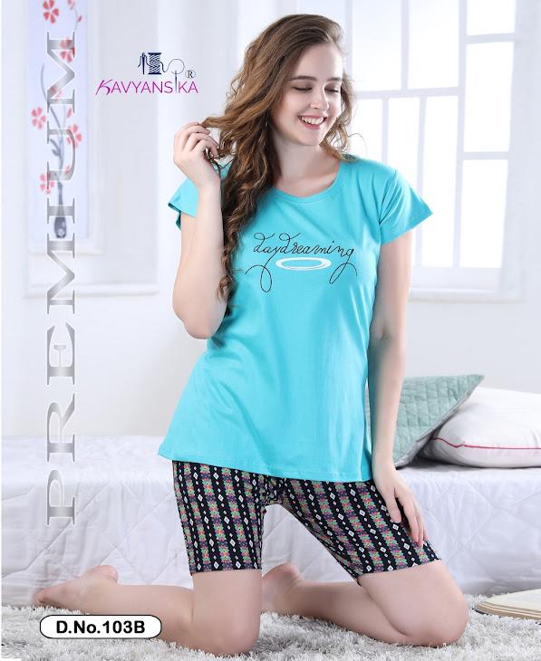Kavyansika Vol 103 Shorts Night Suits Catalog Lowest Price