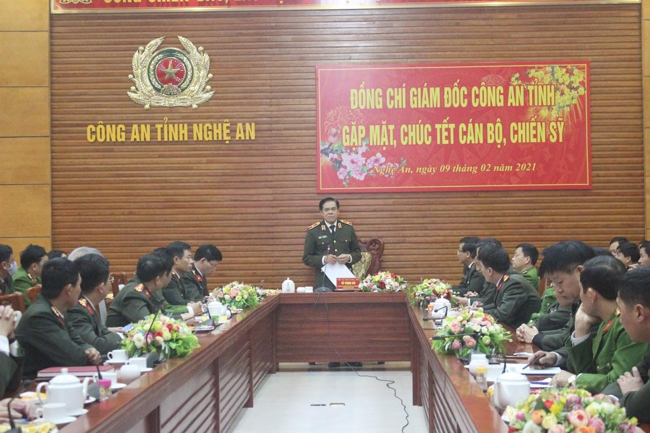 Tham dự buổi gặp mặt có các đồng chí trong BTV Đảng uỷ, lãnh đạo Công an tỉnh và lãnh đạo các phòng nghiệp vụ